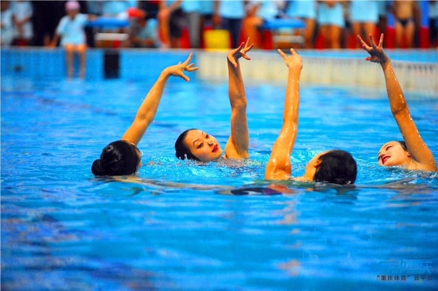 全国游泳等级达标赛在奥体中心举行